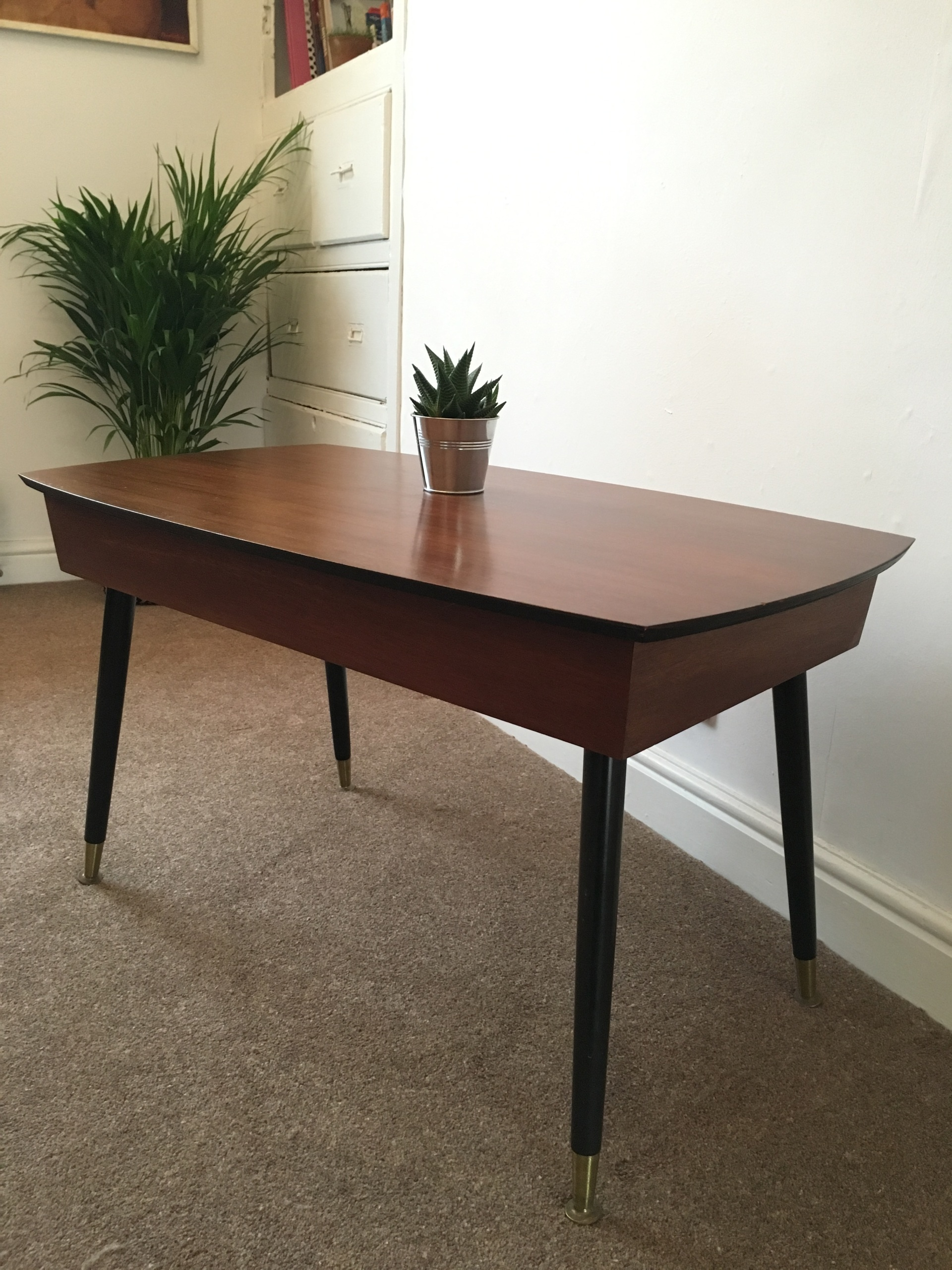 Vintage sliding top coffee table Viners of Sheffield